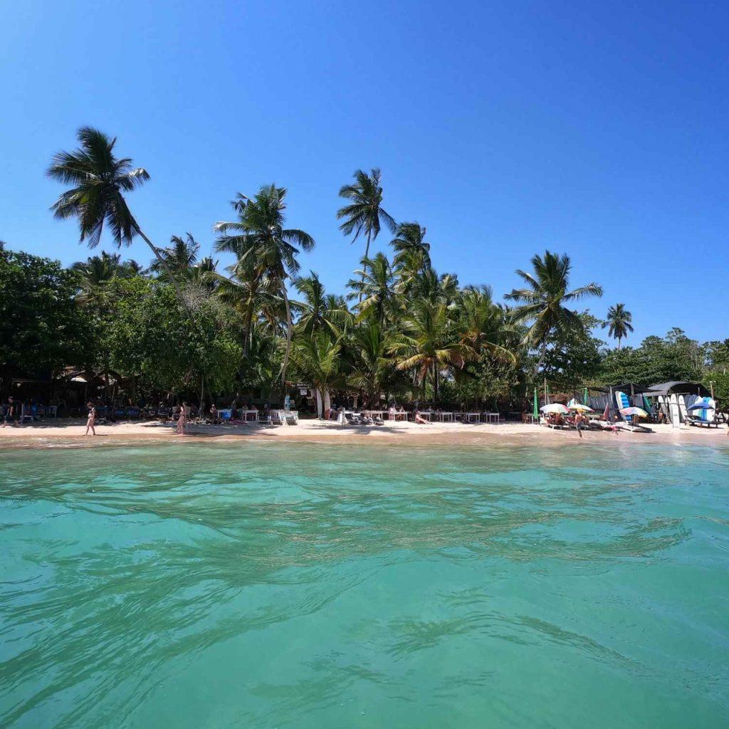 la spiaggia di Hiriketia con le sue acque verdi è tra cosa vedere in sri lanka